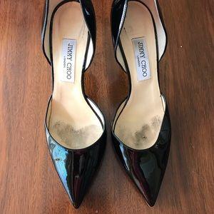 Jimmy choo 40.5 40 1/2 black heels